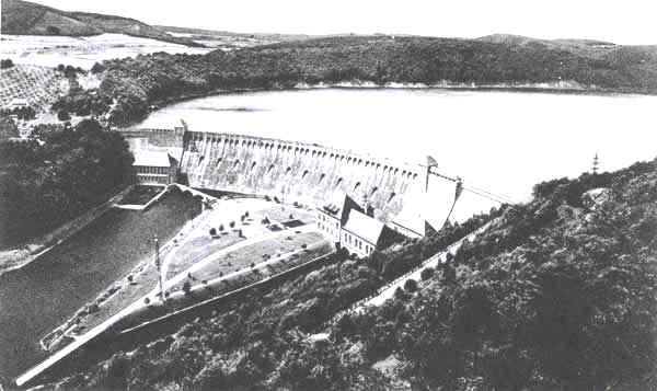 The Eder dam before the raid