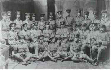10 Battalion Officers 1908