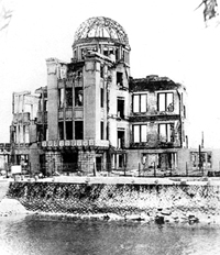The dome at the epicentre of the blast. Unaware of the hazard, Ray Cooper climbed all over the building.