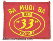 "Ba Muoi Ba Biere ""33"" Export Patch"