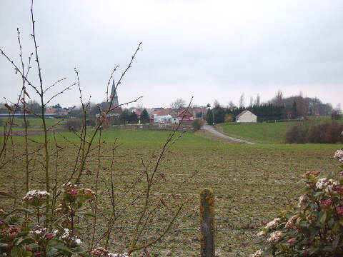 Looking towards Bullecourt from the Digger Memorial