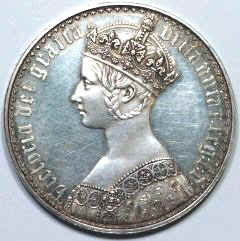 Obverse of 1947 Victoria Gothic Crown