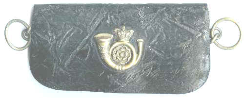 VICTORIAN ARMY OFFICERS LEATHER POUCH & BADGE
