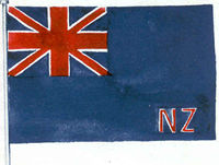 Flag with Union Jack in corner and the letters 'NZ'