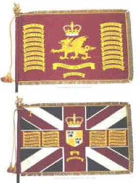 Scots guards 1st battalion Left Flank company colours flag