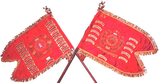 The Guidons of the 1st/15th Royal New South Wales Lancers
