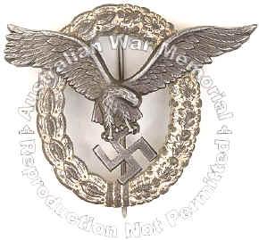 Пилотска значка на Луфтвафе - Flugzeungfuehrabzeichen