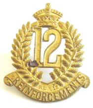 NZ WW1 12th Reinforcements Collar Badge