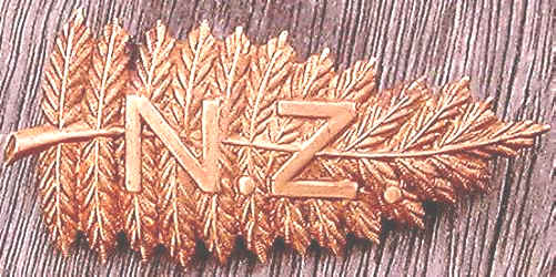 HUGE 3 long FERNLEAF hat badge of the NZMR