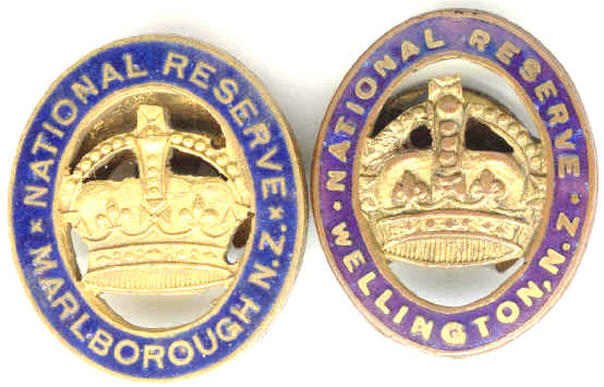 NEW ZEALAND MILITARY NATIONAL RESERVE BADGE X 2