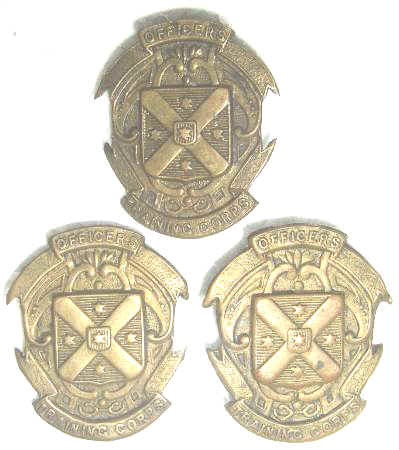NZ WW1 OFFICERS TRAINING CORPS. BADGES - QTY 3