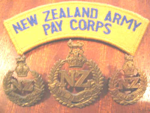 NZ Army pay corps badges/title