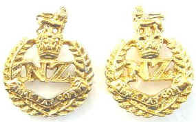 NZ Army Pay Corps Q/C Pair Collar Badges