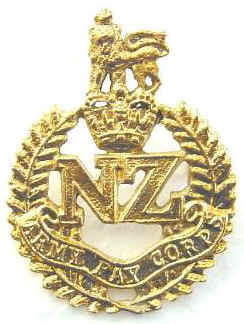 NZ Army Pay Corps Q/C Cap Badge