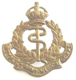 Royal NZ Army Medical Corps K/C Brass Cap Badge