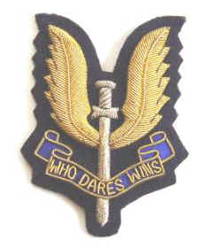 NZ Special Air Service Bullion Blazer Badge