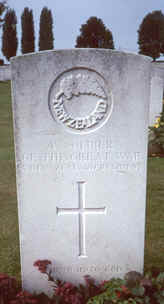 Headstone for New Zealand soldier