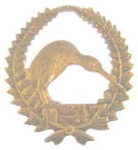 SCARCE WW1 NZ Reinfs Kiwi in Wreath Badge